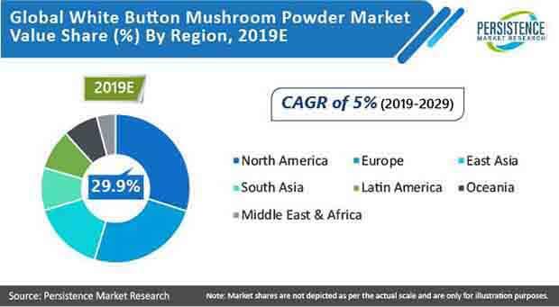 white button mushroom powder market by region